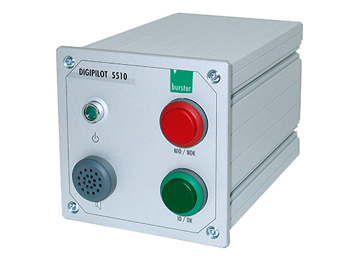 digipilot quittiergerät für handarbeitsplätze optisch akustisch signal 5510 burster acknowledgement device for manual work stations optical acoustical notification