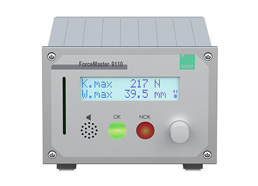 forcemaster 9110 low cost monitoring für handpressen einkanal kraft überwachung burster low cost monitoring for manual press presses hand lever presses single channel force monitoring