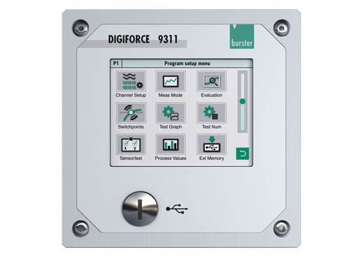 digiforce 9310 einpressen fügen clinchen überwachung prozess controller monitoring ethernet schaltschrank modul cabinet module einbau panel dms piezo potentiometrisch prozess signal profibus press fit jointing clinching monitor strain gauge gage desktop panel version process signal